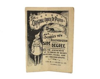 1897 Masonic Ritual Rules: The Original Order of Pluto