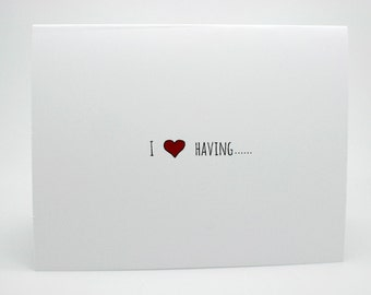 Naughty Valentines Card- Funny Love Card