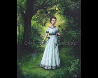 Black Butterflies, The Killing Jar, Original Painting, Butterflies, Entomology, Forest, Fairy Tale, Folk Tale, Spicebush Swallowtails.