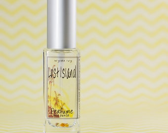 Lost Island Perfume | Summer Inspired Scent of Coconut, Palm, Amber, and Tropical Fruits.