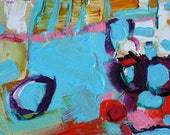 """ABSTRACT PAINTING """"MINI series"""" 6"""" x 4"""" matted to 8"""" x 10"""" by Contemporary Artist Elizabeth Chapman"""