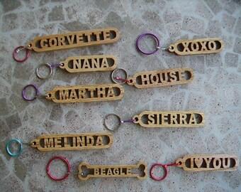 Handmade name keychains