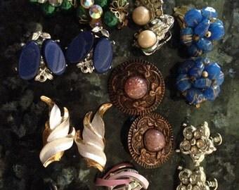 Vintage lot of earrings