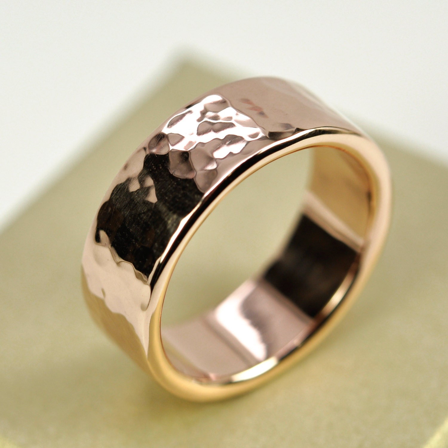 zoom - Mens Rose Gold Wedding Rings