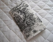CUSTOM MADE to Order Checkbook Cover or Coupon Organizer Black and White Toile