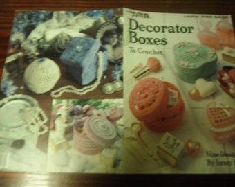 Crochet Patterns Decorator Boxes Leisure Arts 2182 Crocheting Pattern Leaflet Ismay Bullock