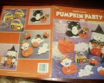 Halloween Plastic Canvas Patterns Pumpkin Party Needlecraft Shop 203022 Plastic Canvas Pattern Leaflet