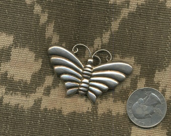 1970s Sterling Silver BUTTERFLY Pin