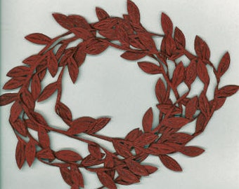 Leaf Garland in Deep Red 3 Yard cut