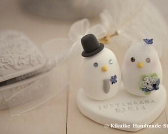 love birds bride and groom Wedding Cake Topper (K325)