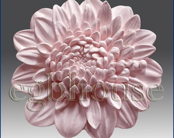 "3D silicone Soap/polymer/clay/cold porcelain/candle mold- Chrysanthemum 14w01 -""Buy only from the original designer"