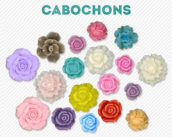 cabochons - for digital scrapbooking - commercial use allowed - automatic download