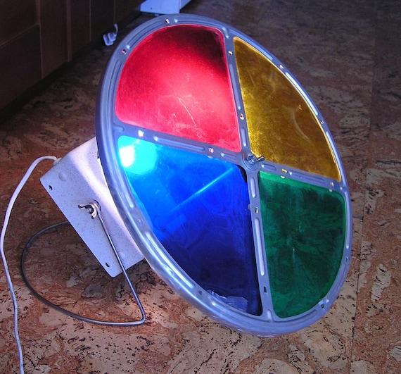 Silver Christmas Tree Color Wheel: Vintage Color Wheel For Aluminum Christmas Tree By Luvintage