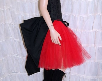 Black Cotton Mid Length Bustle Wrap MTCoffinz - All Adult Sizes