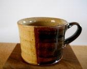 Espresso cup, demitasse, yellow and dark brown
