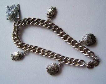 Peruvian Charm Bracelet - 1950's - Collectible - Vintage