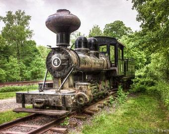 Argent Lumber Co Steam Engine #4, Antique Locomotive, Old Trains, Railroads, Industrial, Narrow Gauge Steam locomotive