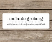 Printed Return Address Labels - Self Adhesive - Typewriter