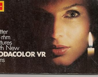 "Vintage Kodak Instruction Booklet ""Better 35mm Pictures with New Kodacolor VR Films"""