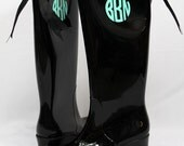 Monogrammed Rain Boots with Preppy Bows for Katie