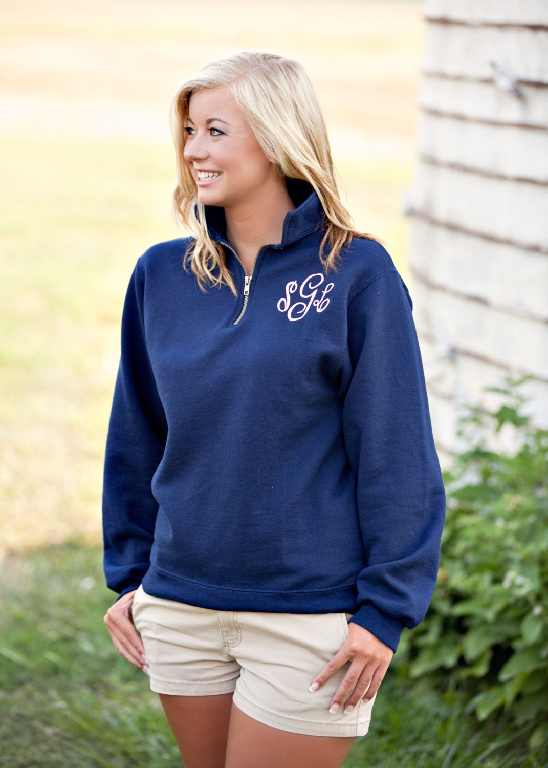 Like this item? - SALE Monogrammed Pullover Sweatshirt 1/4 Zip Monogrammed