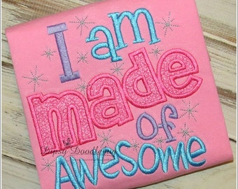 I am Made of Awesome ~ Polka Dot Shorts Summertime Pajamas for Girls