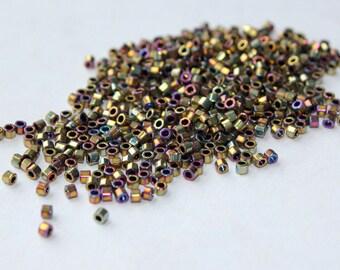 11/0 Met Golden Iris Cut Miyuki Delicas: 10 gr Bag DBC-0029