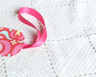 Pink Kamari Garden - Luggage Tag