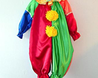 Clown  Costume in Satin
