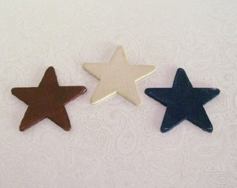 Wooden Stars Red White Blue Plaques 1:12 Dollhouse Miniatures Artisan