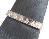 Chrome Silver Tie Slide - Tie Clip - Handmade with LEGO(r) plates - Weddings - Grooms - Best Man - Father of the Bride
