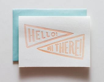 Hello There * Letterpress Greeting Card - CE141
