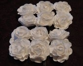 White Mulberry Paper Roses-Large