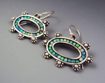 Galatia Earrings- Opal Mosaic
