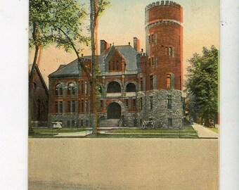 N G S N Y Armory, Utica,  NY vintage  postcard