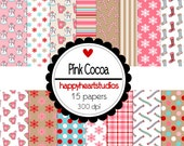 Digital Scrapbooking PinkCocoa- INSTANT DOWNLOAD