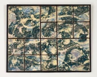 Tile Wall Art Wall Hanging Homage to Van Gogh