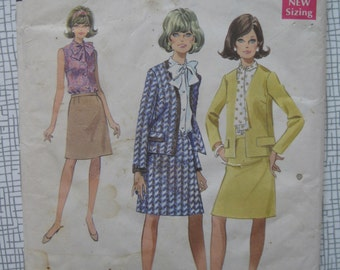 "1968 Suit & Blouse - 38"" Bust - Style 2362 Sewing Pattern"