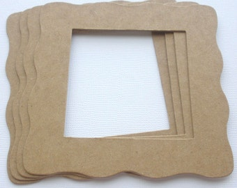 WAVY SQUARE - Chipboard Picture Frame Die Cuts - Bare Alterables