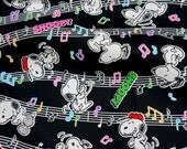Snoopy Print Japanese Fabric 50 cm by 42  cm or 19.6 inch by 42 inch