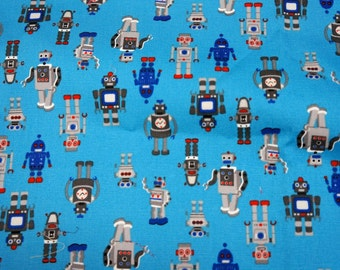 Japanese Fabric Robots 50 cm by 53  cm or 19.6 by 21 inch (HAKO17A)