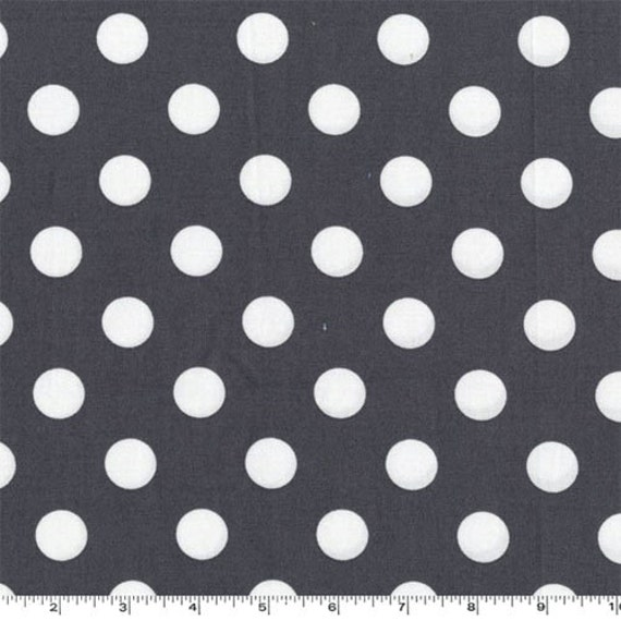 One (1) Yard -Quarter Dot in Gray By Michael Miller Fabrics CX3744-GRAY-D