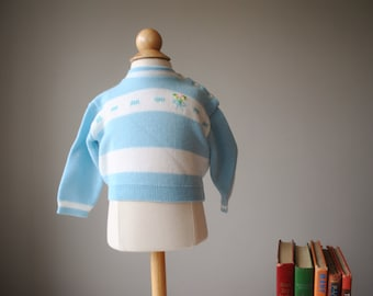 1960s Soft Spring Sweater, size 6 months