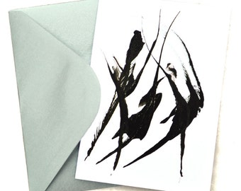 Blank Note Card With Envelope Art Print The Dance Abstract