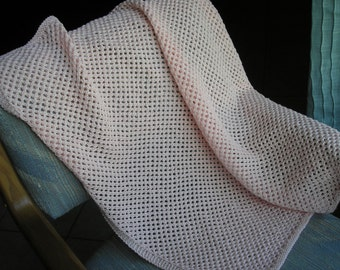 Baby Blanket - 100% Cotton Blush Pink