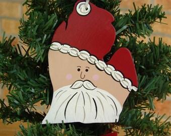 Michigan Santa Ornament