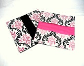 Checkbook Cover Candy Damask Fabric