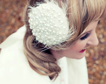 Pearly Hollywood Hairpiece/Hair Clip
