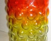 Blenko Wayne Husted~ amberina~ vineland~ bubblewrap vase circa 1950s