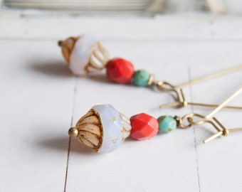Silya- elegant long length beaded earrings